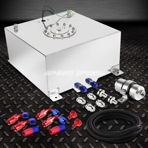 10 Gallon Aluminum Fuel Cell Tank cap feed Line Kit 30 Micron Gas F