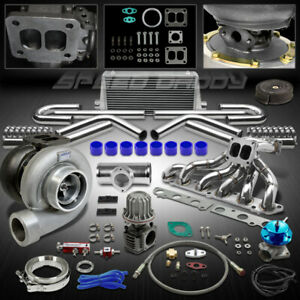 Gt45 11pc Turbo Kit Turbocharger manifold intercooler 86 92 Supra Mk iv 4 7m gte