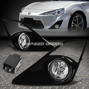 For 13 16 Scion Frs Clear Lens Bumper Driving Fog Light Lamps W Bezel Switch
