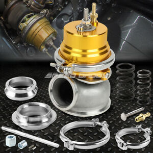 Universal External 12 psi 60mm Turbo charger V band Wastegate Wg W spring Gold