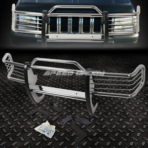 For 93 98 Grand Cherokee Zj Suv Chrome Stainless Steel Front Bumper Grill Guard