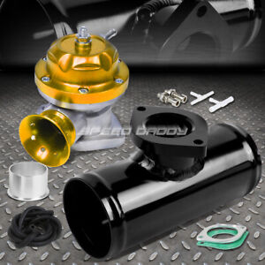 30 Psi Adjustable Turbo Blow Off Valve Type Rs 2 5 Flange Pipe Adaptor Gold