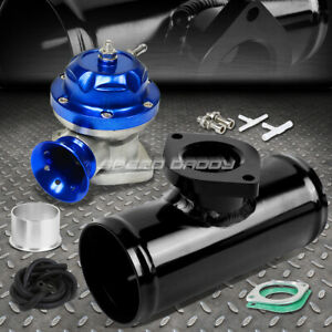 30 Psi Adjustable Turbo Blow Off Valve Type Rs 2 5 Flange Pipe Adaptor Blue
