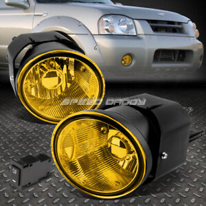 For 00 04 Nissan Sentra Frontier Amber Lens Front Bumper Fog Light Lamp W Switch