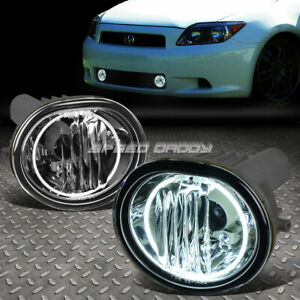 For 05 10 Scion Tc Ant10 Clear Lens Oe Driving Pair Halo Ring Fog Light Lamp