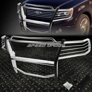 For 04 08 Ford F150 Pickup Truck Chrome Stainless Steel Front Bumper Grill Guard