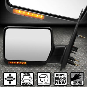 For 04 14 Ford F150 Foldable Led Signal Rear View Towing Mirror Left Lhs Driver