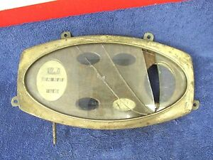 Vintage 1920 s 30 s Rat Rod Gauge Cluster Housing 417