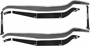 New 32 Ford Frame Rail Boxing Plate Kit With Black Spreader Bars 12 Pieces