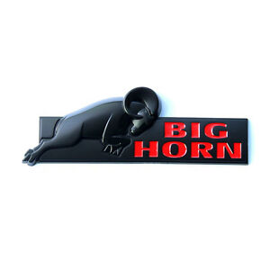 1 Oem Black Red Big Horn Emblem Bighorn Badge Ram 1500 2500 3500 1w Mopar Mat