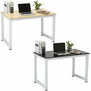 Wood Computer Desk Pc Laptop Table Study Workstation Home Office Furniture