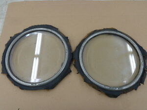 Antique Car Beveled Glass Port Hole Windows Mt 1018