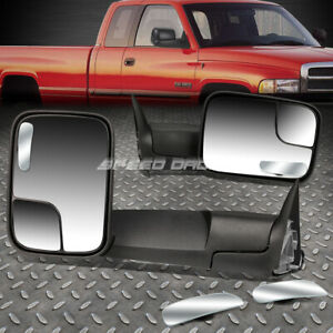 Manual Rear View Foldable Towing Safety Blind Spot Mirror For 94 01 Dodge Ram