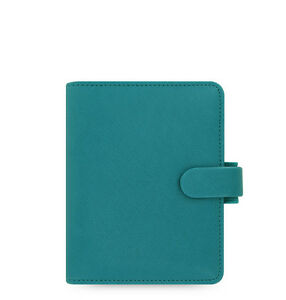The Filofax Pocket Size Saffiano Organizer Aquamarine 022526 2018 Diary