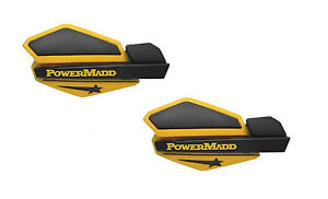 Powermadd Honda Suzuki Can Am ATVs Star Series Handguards Guards Black/Yellow