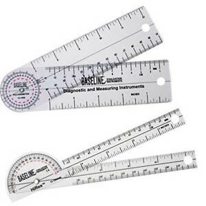 Baseline Inexpensive Clear Plastic Goniometers 5 Linear Scale