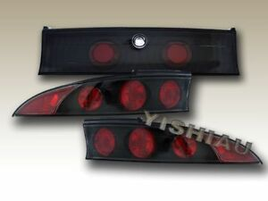 1995 1999 Mitsubishi Eclipse Tail Lights Jdm Black 3pc 95 96 97 98 99