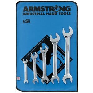 Armstrong 26 273 5 Piece Full Polish Open End Wrench Set Usa