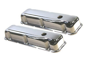 Buick Chrome Steel Valve Covers 350 V 8 1968 1981 Skylark Riviara Gts