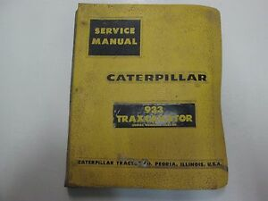 Caterpillar 933 Traxcavator 42a1 up Service Repair Shop Manual Binder Stained