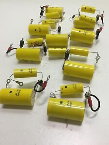 Lot Of 9 Rs 47 Uf 1 Uf 1000 V Capacitors W Mounting Stud 1000 Volt Rating