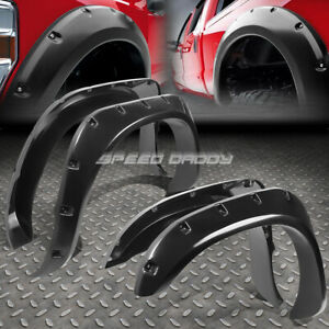 For 03 08 Ram 1500 3500 Pocket Riveted Matte Abs Side Wheel Fender Flare Cover