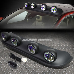 Universal 4x4 Black Frame Neo Clear Lens Off road Roof Mounted Rally Fog Light