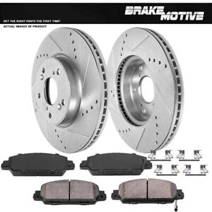 Front Brake Rotors And Ceramic Pads Kit 2013 2014 2015 Honda Accord Coupe Sedan