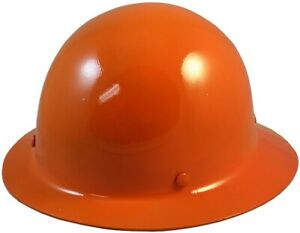 Msa Skullgard Full Brim Hard Hat With Staz On Suspension Orange
