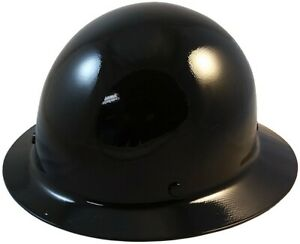 Msa Skullgard Full Brim Hard Hat With Staz On Suspension Black