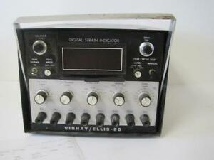 Vishay Measurement Ellis 20 Digital Strain Indicator Guaranteed Lab Equipment