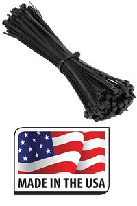 1000 14 Zip Ties Nylon Black 120 Lbs Weather Resistant Wire Cable Made In Usa