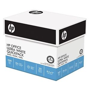 Hp Office Ultra White Paper Quickpack Letter 20lb 92 bright 2500ct