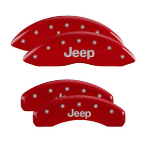 Mgp 42020sjeprd Front rear Red Disc Brake Caliper Covers For Jeep Grand Cherokee