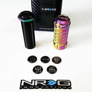 Nrg Stealth Style Adjustable Shift Knob Honda Acura M10 X 1 5 Thread Neo Chrome