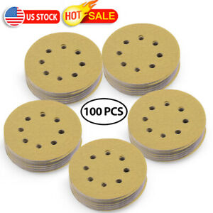 5inch 150 Grit Hook and Loop Sanding Discs Orbital Sander Sheets Dustless 8 hole