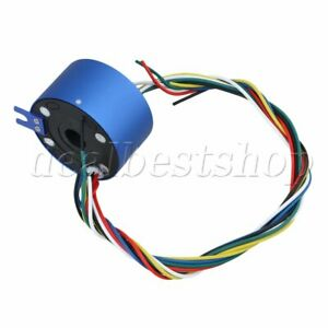 Blue 200mm Length Cable 380v 6 Wires 10a 12 7mm Dia Capsule Slip Rings