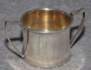 Antique Silver Plated Small Cup With Double Handles