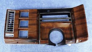 Mint Oem Original 86 89 Brougham Wood Dash Instrument Trim Plate Cluster Panel