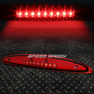 For 97 02 Ford Expedition Red Housing Led Third 3rd Tail Brake Light Lamp Bar