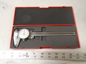 Machinist Lathe Mill Machinist Starrett Dial Caliper Gage Gauge In Case fs