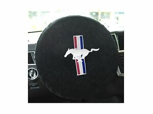 Konsole Armour Saw100musb Universal Black Steering Wheel Cover W Mustang Logo