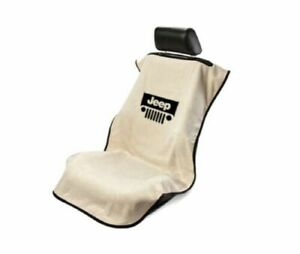 Konsole Armour Sa100jepgt Tan Car Seat Cover W Jeep Grille Logo