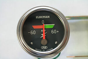 Jdm Fd Elecman Colored Ampere Gauge Made In Japan Vintage Rare E52sl60a