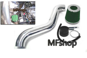 Black Green For 1997 2001 Honda Prelude 2 2l L4 Air Intake System Kit Filter