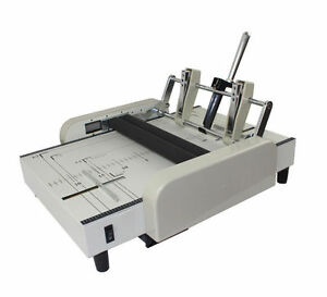 A3 Booklet Making Machine Paper Bookbinding And Folding Booklet Stapling 220v E