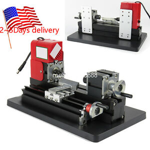 Ups Fast Mini Metal Working Lathe Motorized Machine Diy Tool Metal Woodworking