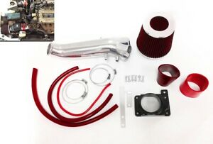 Red For 1995 1999 Mitsubishi Eclipse Gst Gsx Spyder 2 0l Turbo Air Intake