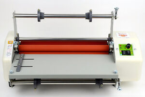 Latest Version 13 Four Rollers Hot And Cold Roll Laminating Machine E