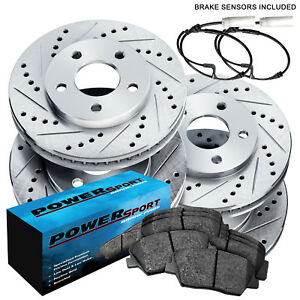 Full Kit Drilled Slotted Rotors Disc And Ceramic Brake Pads 2012 2012 Bmw X1